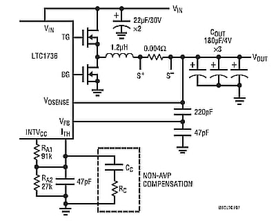 Active voltage positioning reduces output capacitors