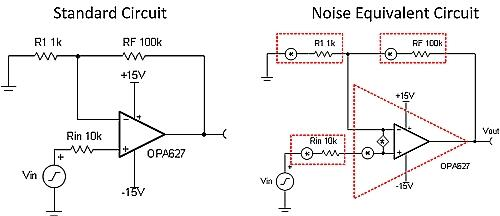 Intrinsic Op Amp noise in a Nut Shell