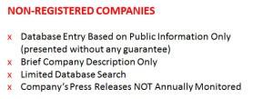 non registered
