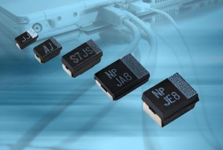 Vishay Polymer Tantalum Capacitors Offer New Case Sizes and Higher Voltage Ratings up to  35 V