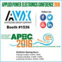 AVX to Launch Two New Products, Showcase Passive Portfolio, & Contribute to the Conference Program at APEC 2016