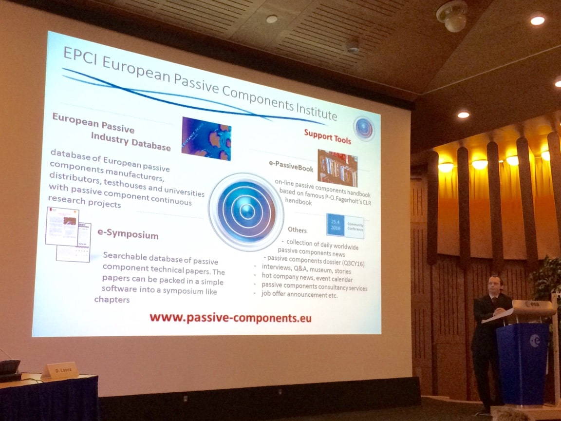 EPCI introduced at the ESA ESCCON conference