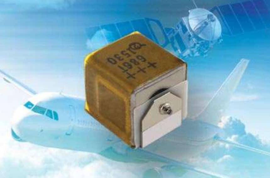 New Vishay T22 SMD Wet Tantalum Capacitor Offers Small  Size for Avionics and Aerospace Applications