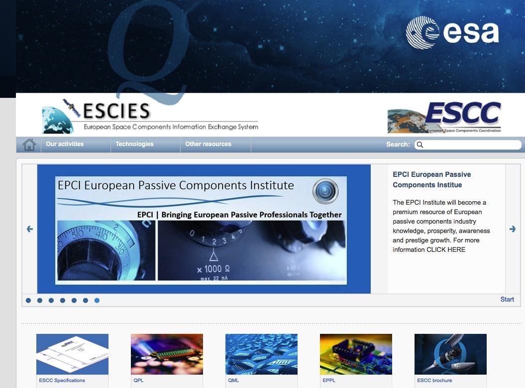 EPCI introduced by ESA ESCIES