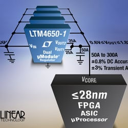 Linear – Regulator slashes capacitance to power sSub-28nm GPUs, FPGAs, and ASICs processors