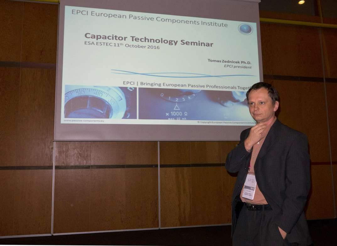 EPCI Capacitor Seminar Highly Acknowledged by ESA SPCD Participants