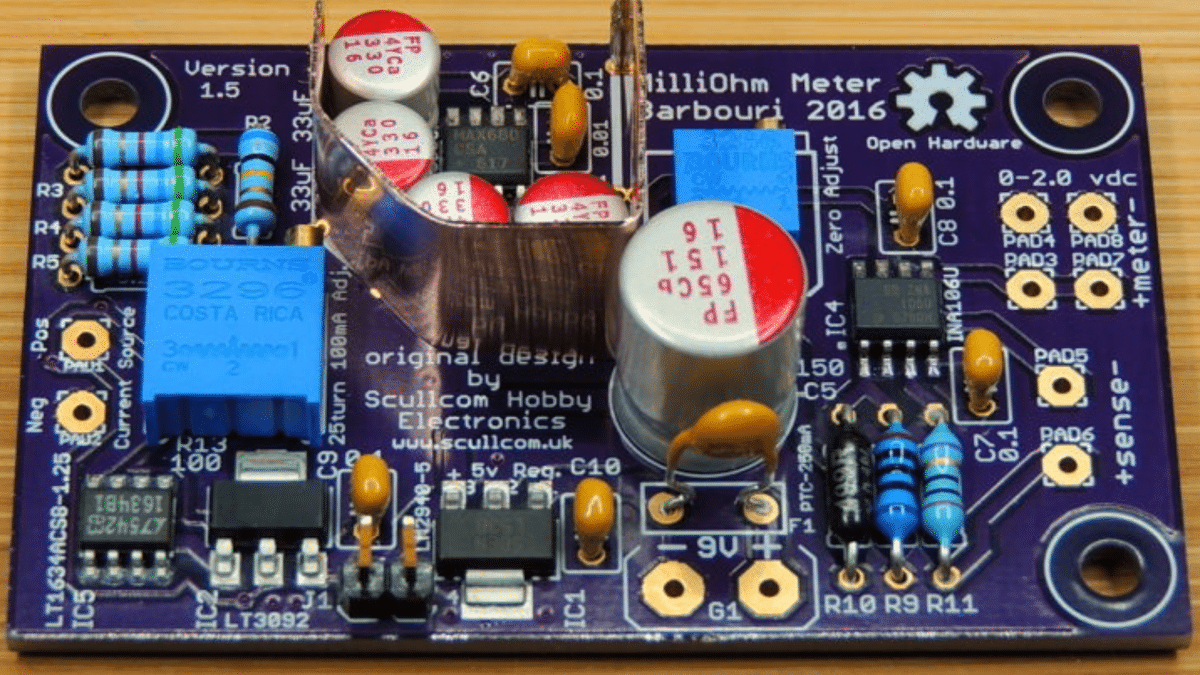 Homemade Milliohm Meter Version 1.5