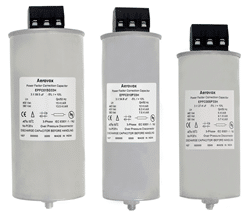 Aerovox Corp. Develops New 50 Hz Power Factor Correction Capacitors