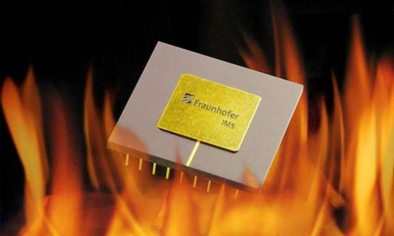 Capacitor withstands temperatures of up to 300 degrees Celsius