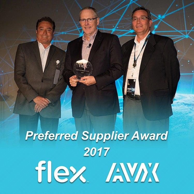 AVX 2017 Flex Preferred Supplier Award