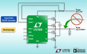 ADI hits 500W with switched capacitor power converter