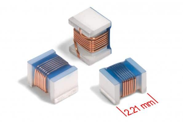 Coilcraft ceramic chip inductors from 2.6 to 820nH in a High-Q 0805 package
