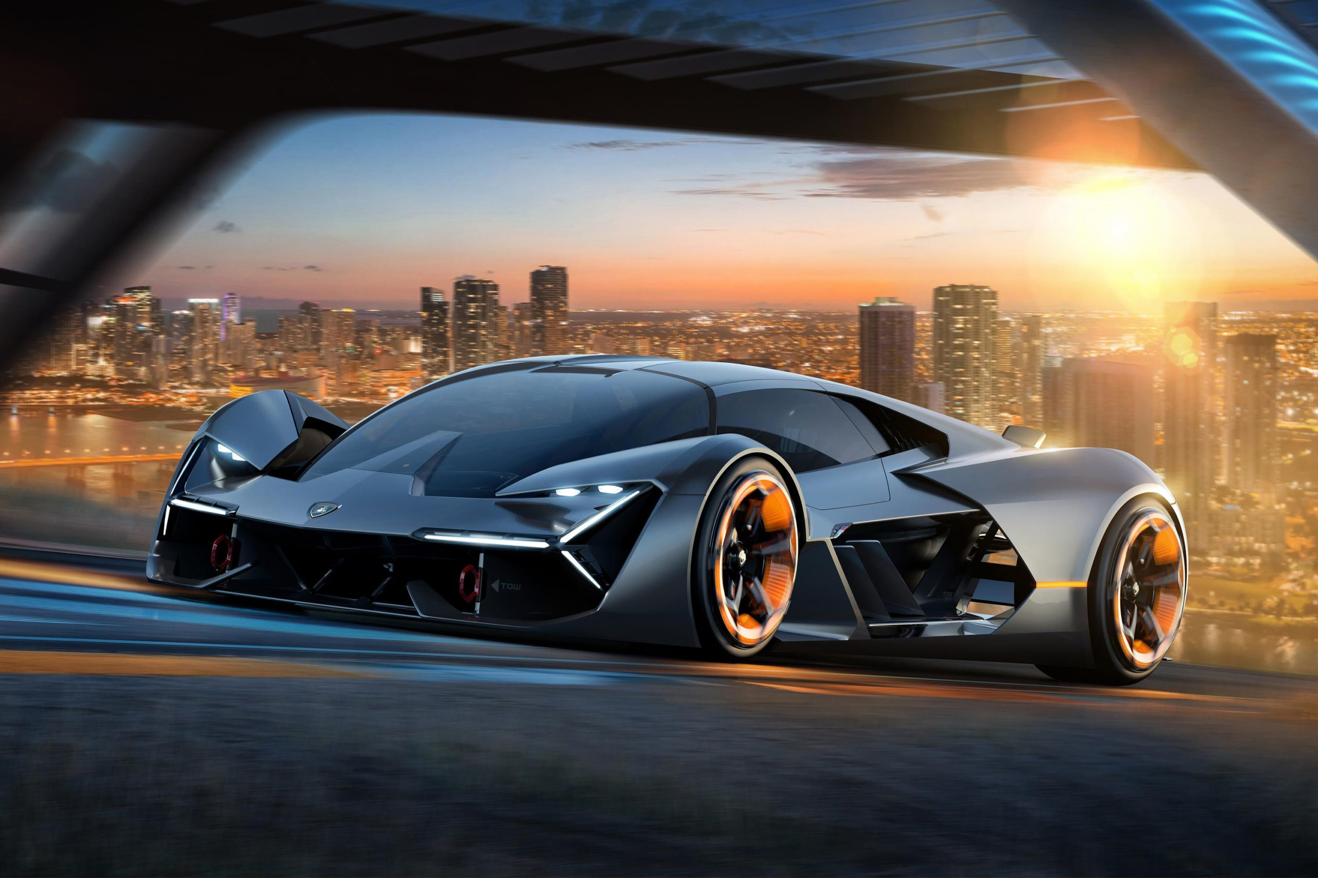 Lamborghini moved away from standard batteries and focused on supercapacitors at their Terzo Millennio concept