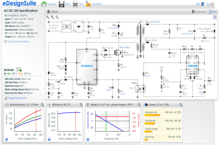 STM online design toolset complements WE transformer specs
