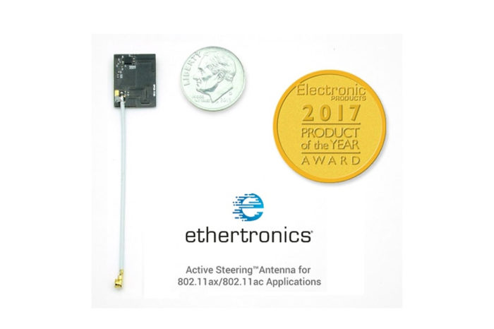 Ethertronics Wi-Fi Active Steering™ platform receive Electronic Products 2017 – Product of the Year