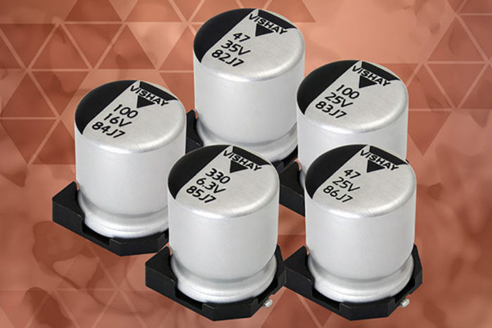 Vishay Conductive and Hybrid Aluminum Polymer Capacitors Save PCB Space and Lower Costs