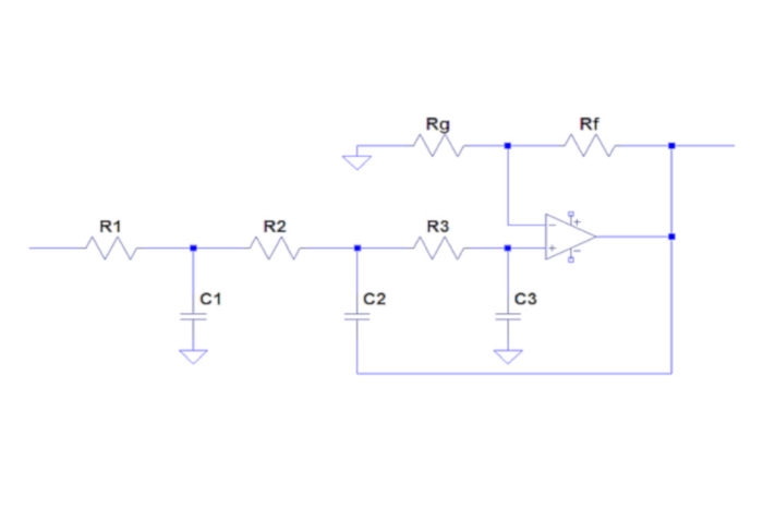 Building optimal sensitivity third order low pass filters with a single op amp