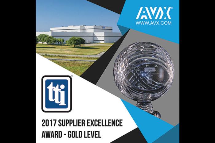 AVX Earns 2017 TTI Supplier Excellence Award