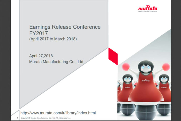 Murata Releases Fiscal Year 2017 Results Presentation