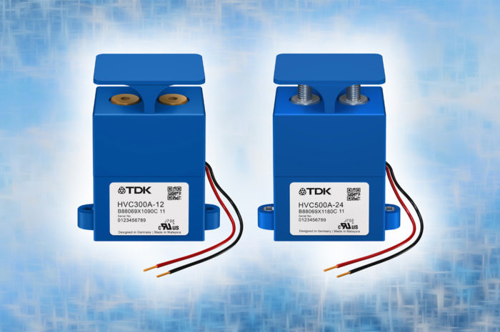 TDK high-voltage contactors portfolio extended for high current up to 500 A