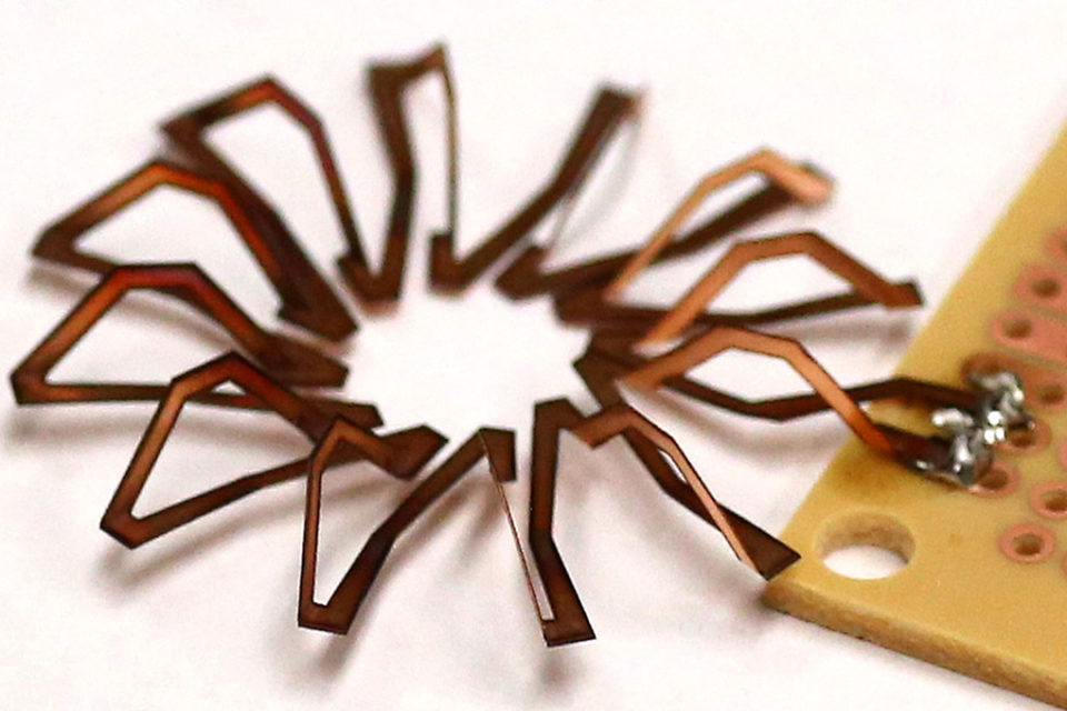 Laser Origami Makes Inductors