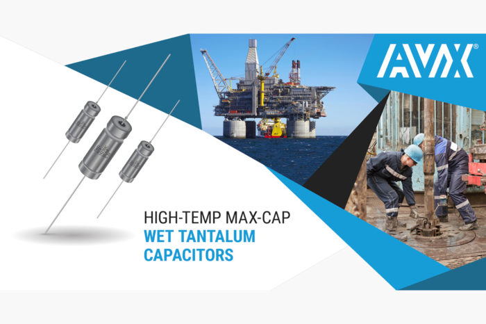 AVX High-Temp Max-Cap Wet Tantalum Supercapacitors Now Rated for Maximum Operating Temperatures of 175°C