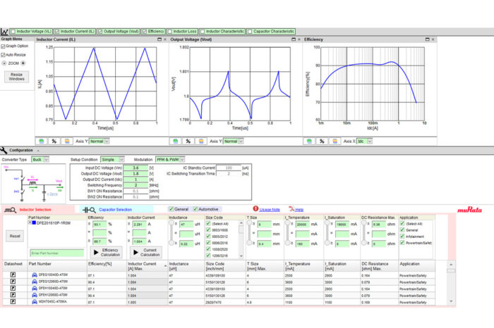 Murata Adds Component Functionality to SimSurfing Design Support Software