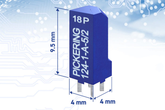 Pickering Launch Industry's Smallest Through-Hole Reed Relay