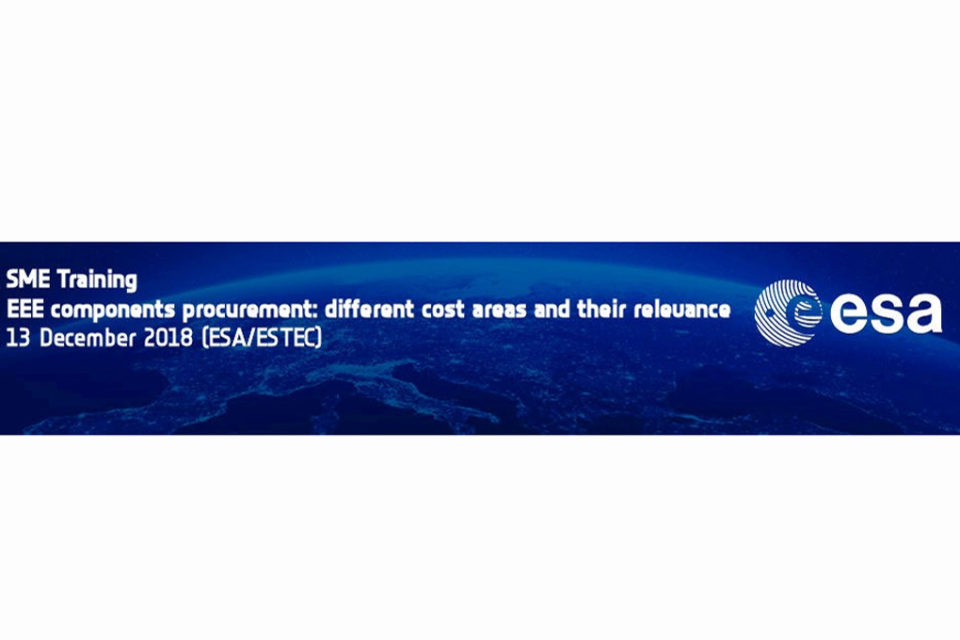 Alter Technologies organizes EEE components procurement training for SMEs at ESA