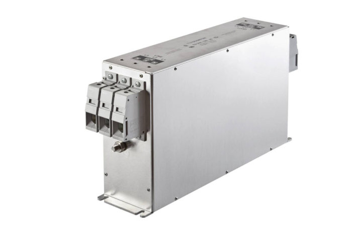 Schaffner introduces smallest 3 phase book style EMC filter