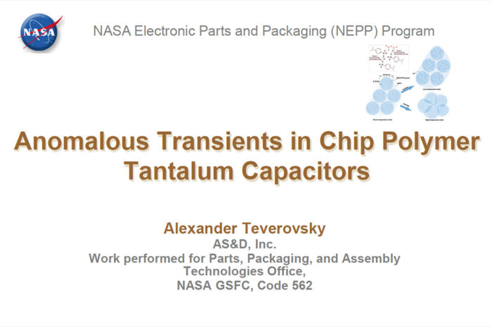Anomalous Transients in Chip Polymer Tantalum Capacitors