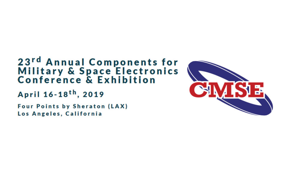 CMSE Releases Advanced Program of the 23rd Annual Components for Military & Space Electronics Conference & Exhibition
