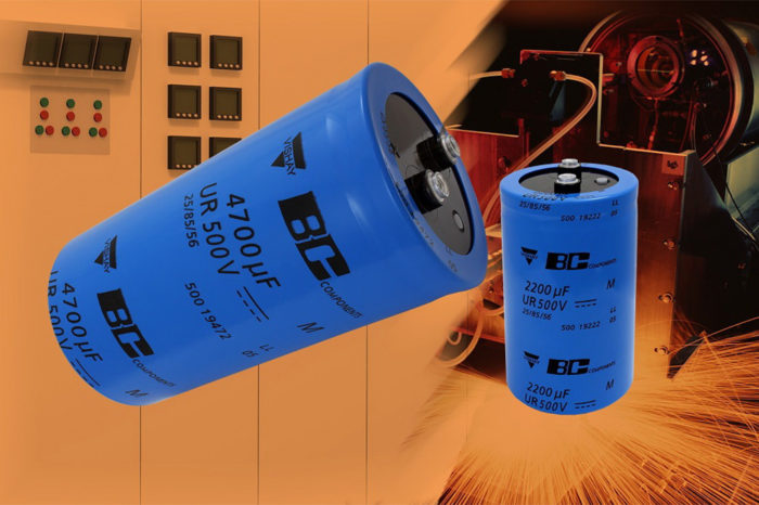 Vishay Extends Screw-Terminal Capacitors With 500 V Rated Voltage and Useful Life to 5000 h