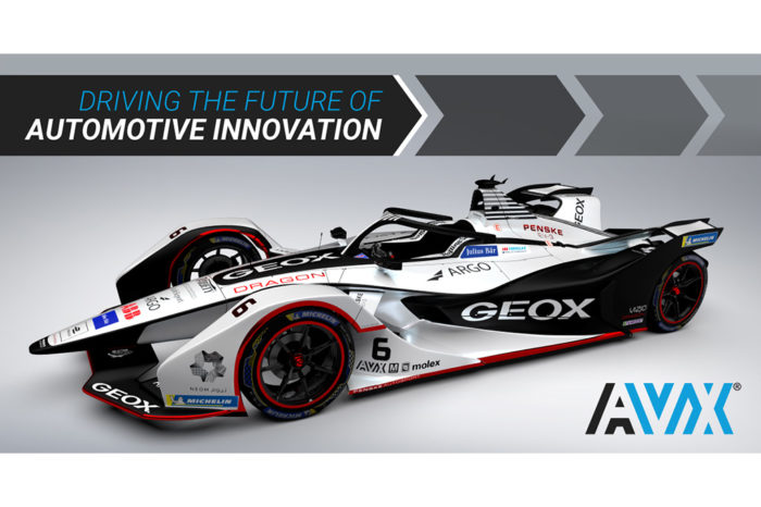 AVX Announces Sponsorship of Formula-E Racing Team