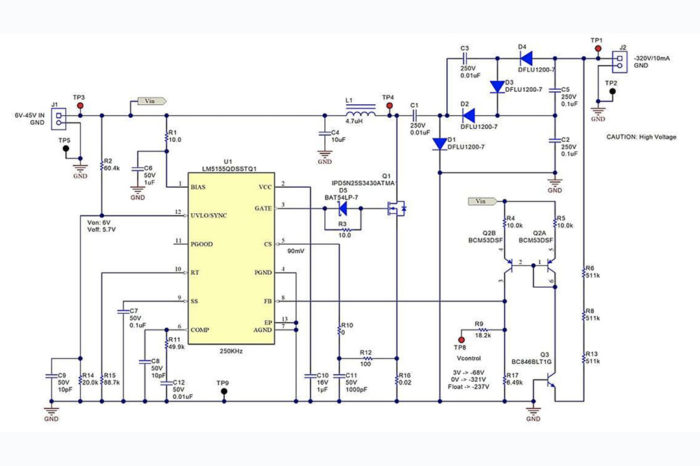 How to design a high voltage DCM inverting charge pump converter