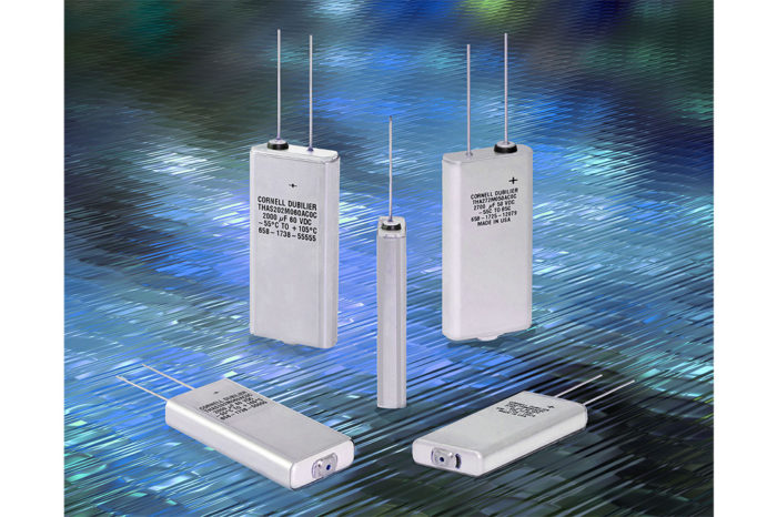 New flat aluminum electrolytic capacitors are stimulating design of smaller, more reliable products