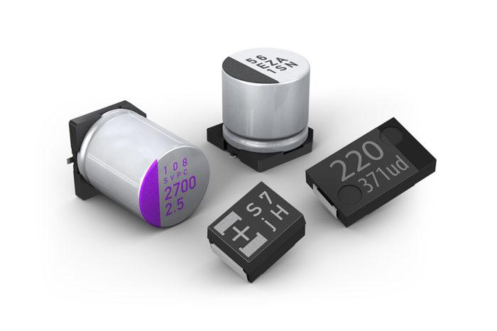 Capacitors - Solid Al Electrolytics with Conductive Polymer or TCNQ Salt