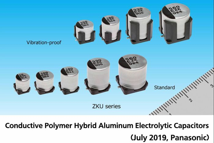 Panasonic releases new conductive polymer hybrid aluminum electrolytic capacitors with the industry's largest capacitance