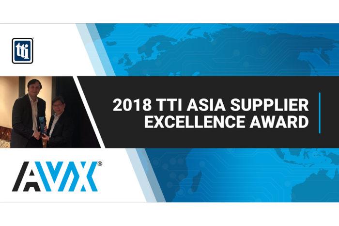 AVX Receives 2018 TTI Asia Supplier Excellence Award