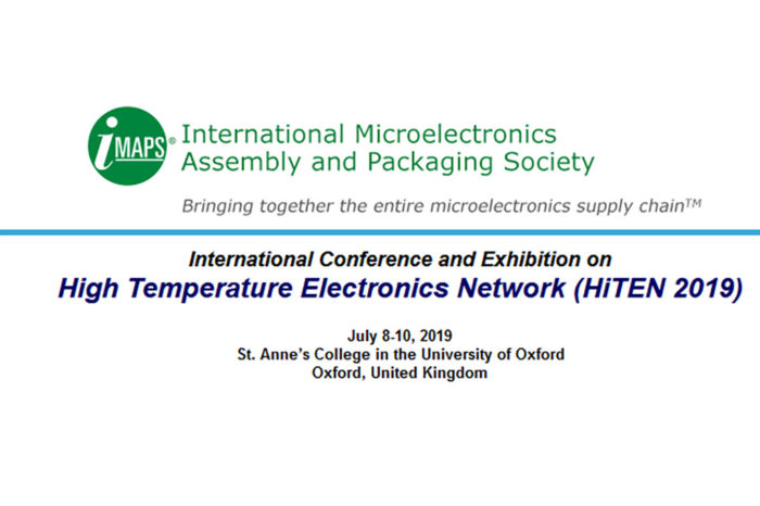 Hi Ten 2019 IMAPS conference will introduce tantalum solid capacitors and resistors for high temperature