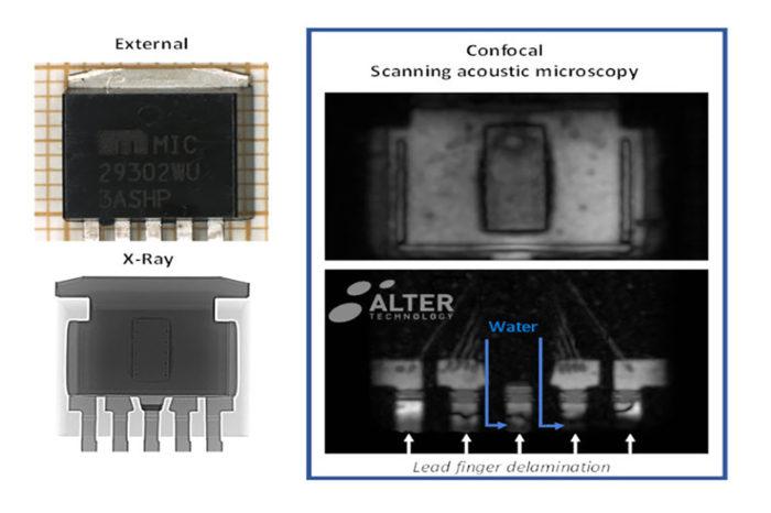Detection of hidden delamination in plastic encapsulation packaging by SAM