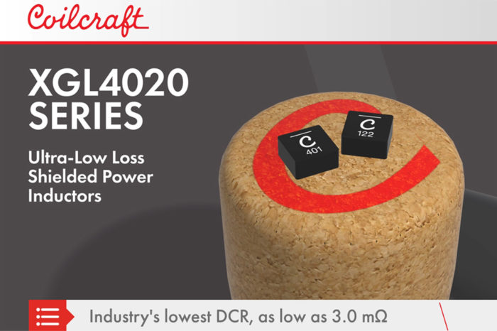Coilcraft Introduces Ultra-Low Loss Shielded Power Inductors
