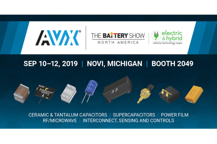 AVX is Showcasing Cutting-Edge Component Solutions at The Battery Show 2019