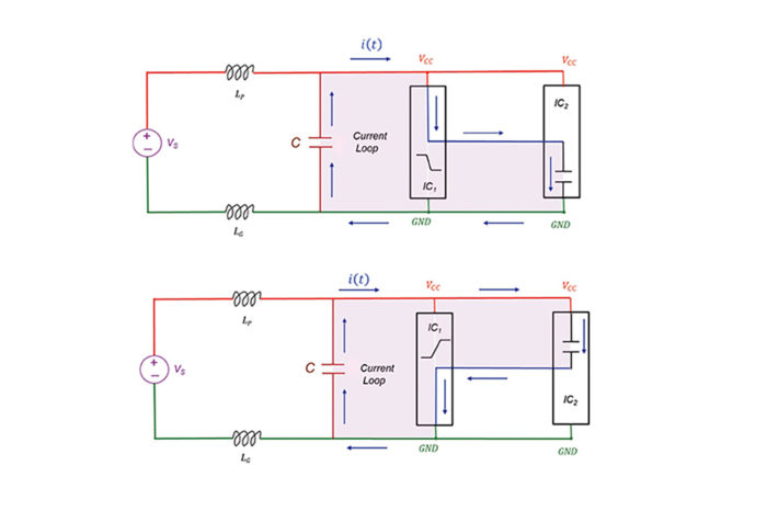 Impact of a Decoupling Capacitor in a CMOS Inverter Circuit