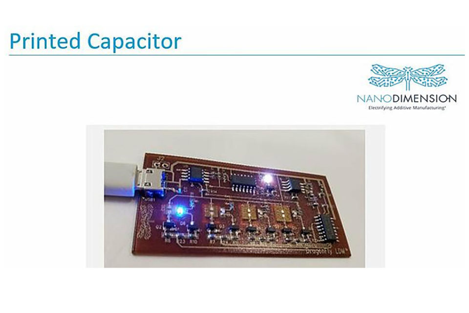 Nano Dimension Presents Production-Grade Printed Capacitors for PCBs