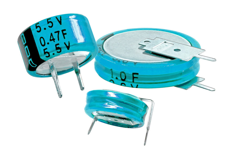 CDE Coin Cell Supercapacitors Provide Memory Backup in Circuits up to 6.3V