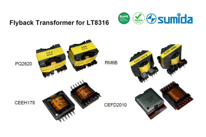 Sumida Introduces Flyback Transformer for Analog Devices