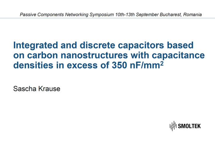 Integrated and Discrete Capacitors Based on Carbon Nanostructures with Capacitance Densities in Excess of 350 nF/mm2