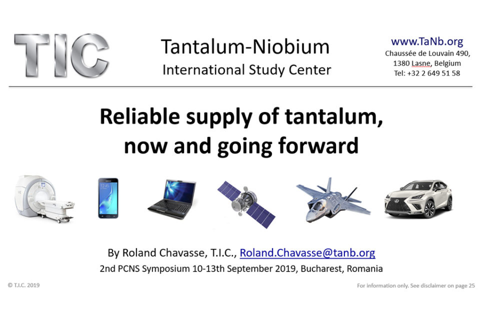 Reliable supply of tantalum, now and going forward