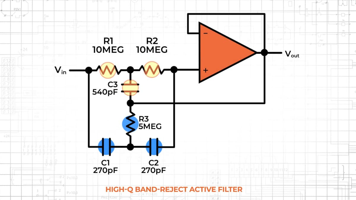 Op-Amps as Active Band-Pass and Active Band-Reject Filters